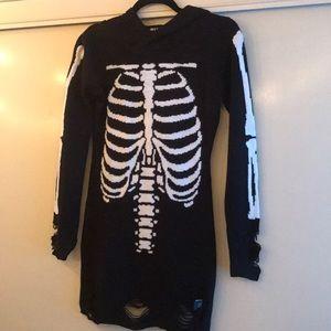 Skeleton Sweater Dress XS new